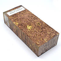 Стабилизированная древесина брусок Кап клена КРИЛАТ 123х50х30, фото 1
