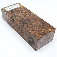 Стабилизированная древесина брусок Кап клена КРИЛАТ 125х47х30, фото 1