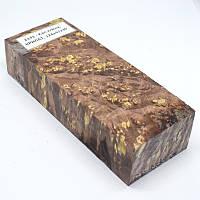 Стабилизированная древесина брусок Кап клена КРИЛАТ 124х47х30, фото 1