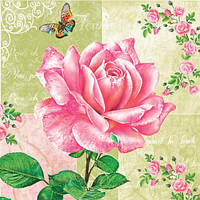 "Салфетки для декупажа ""Ароматная роза"" 33*33 см №7"