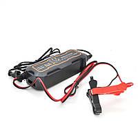 Автомобильное зарядное устройство MERLION-BYGD 6V/12V 5А, c индикацией, AC 200V-240V, DC 6V-12V/0.9A +
