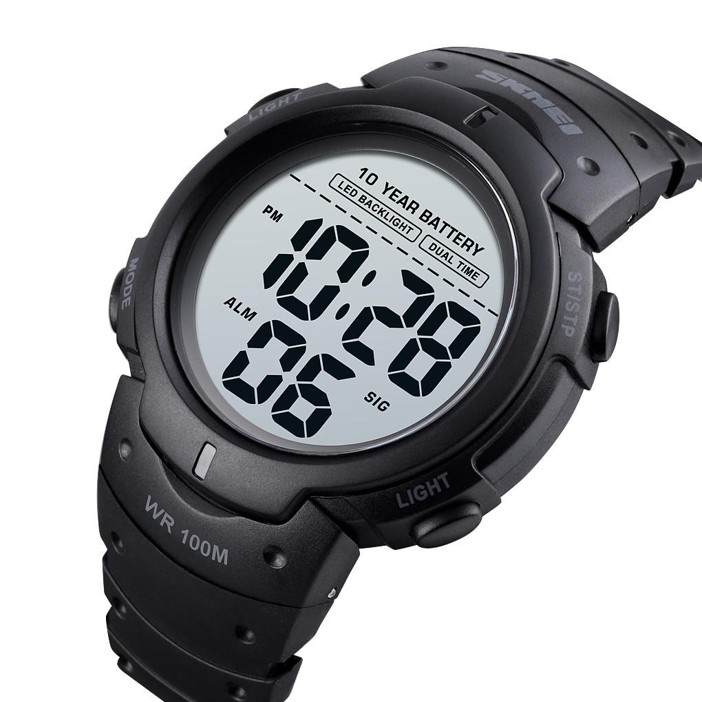Мужские спортивные часы Skmei 1560 Черные