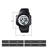 Мужские спортивные часы Skmei 1560 Черные, фото 4