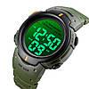 Мужские спортивные часы Skmei 1560 Зеленые, фото 2