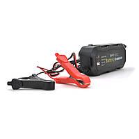 Автомобільний зарядний пристрій MERLION-BYGD 12V 1.5 А, з індикацією, AC 85V-240V, DC 12V/1.5 A + крокодиллы
