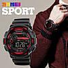Мужские спортивные часы Skmei 1243 champion черные с красным, фото 4