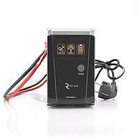ИБП с правильной синусоидой RITAR RTSW-600 LED (360Вт), 12В , под внешний АКБ, Q4 (320*132*210) 4,2 кг