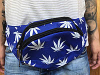 Бананка  Canabis, поясная сумка конопля, синяя сумка на пояс