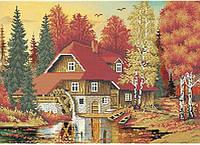 """Схема для вышивки бисером """"Осенний пейзаж"""""""