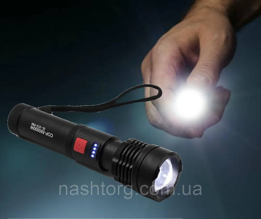 Мощный фонарик аккумуляторный X-Balog BL-X72-P90, светодиодный фонарь с зарядкой от usb | ліхтарик (NT)