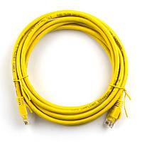 Патч-корд литой RITAR, UTP, RJ45, Cat.5e, 10m, желтый, Cu (медь) Q300