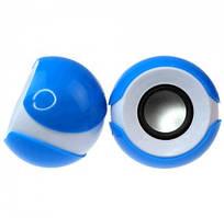 Колонки 2.0 JEDEL JD-S609/T-300 USB+3.5mm, 2x3W, 90Hz- 20KHz, с регулятором громкости, Blue/White, BOX, Q50