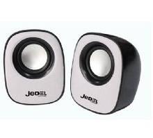 Колонки 2.0 JEDEL JD-M600 USB+3.5mm, 2x3W, 90Hz- 20KHz, с регулятором громкости, Black/Blue, BOX, Q50