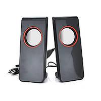 """Колонки 2.0 JEDEL JNS-26 USB+3.5mm, 4"""" 2x3W, 90Hz- 20KHz, с регулятором громкости, Black, BOX, Q20"""