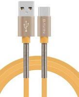 Кабель Bavin CB037 Ex-gratia, Micro-USB, 2.4A, Gold , длина 1,2м, BOX
