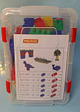 Конструктор Строитель 60 элементов, Полесье, Детский блочный конструктор в контейнере  50465, фото 3