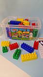 Конструктор Строитель 60 элементов, Полесье, Детский блочный конструктор в контейнере  50465, фото 2
