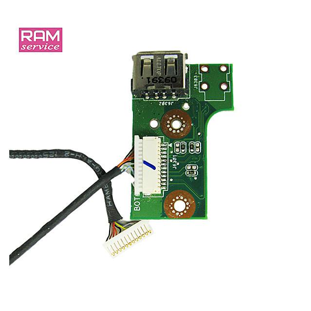 Додаткова плата, роз'єм USB, кнопка включення, для ноутбука, Asus N61V, X64J, 60-NWFPS1400-A03, Б/В, В