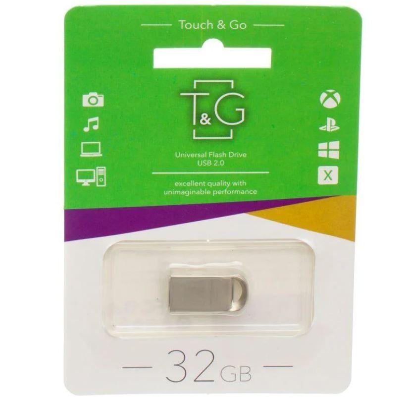 Флешка T&G, серебристая USB 105 32GB MH