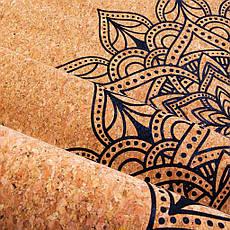 Коврик (каремат) для йоги Spokey Savasana 926537 (original) пробковый, спортивный коврик, мат, фото 2
