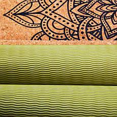 Коврик (каремат) для йоги Spokey Savasana 926537 (original) пробковый, спортивный коврик, мат, фото 3