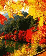 Картина рисование по номерам Яскрава осінь PN0166 Artissimo 40х50см розпис за номерами набір, фарби, пензлі,