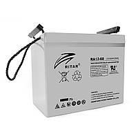 Аккумуляторная батарея AGM RITAR RA12-60, Gray Case, 12V 60.0Ah ( 260 x 169 x 211 (218) ) Q1