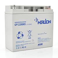 Аккумуляторная батарея MERLION AGM GP12200M5 12 V 20 Ah ( 181 x 76 x 166 (168) )  Q4