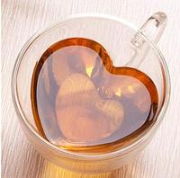 Набор чашек Сердце Ardesto 300 мл 2 шт с двойными стенками AR2630GHL