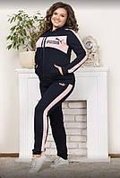 Спорт костюм  женский трикотаж размер 44 46 48 50 52 ростовкой,расцветки, фото 1