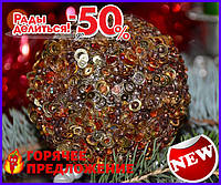 Елочная игрушка шар Пайетки 3D TOP_11-209599