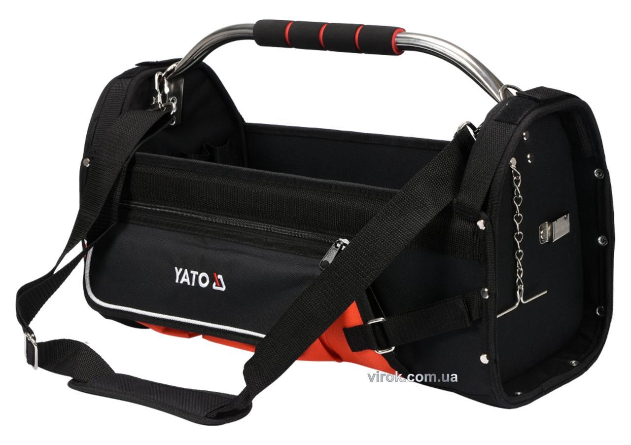 """Сумка для інструментів відкрита 22"""" YATO 11 кишень"""