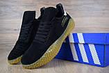 Кроссовки мужские распродажа АКЦИЯ 650 грн Adidas Kamanda черные 43й(27,5см)  последние размеры люкс копия, фото 8