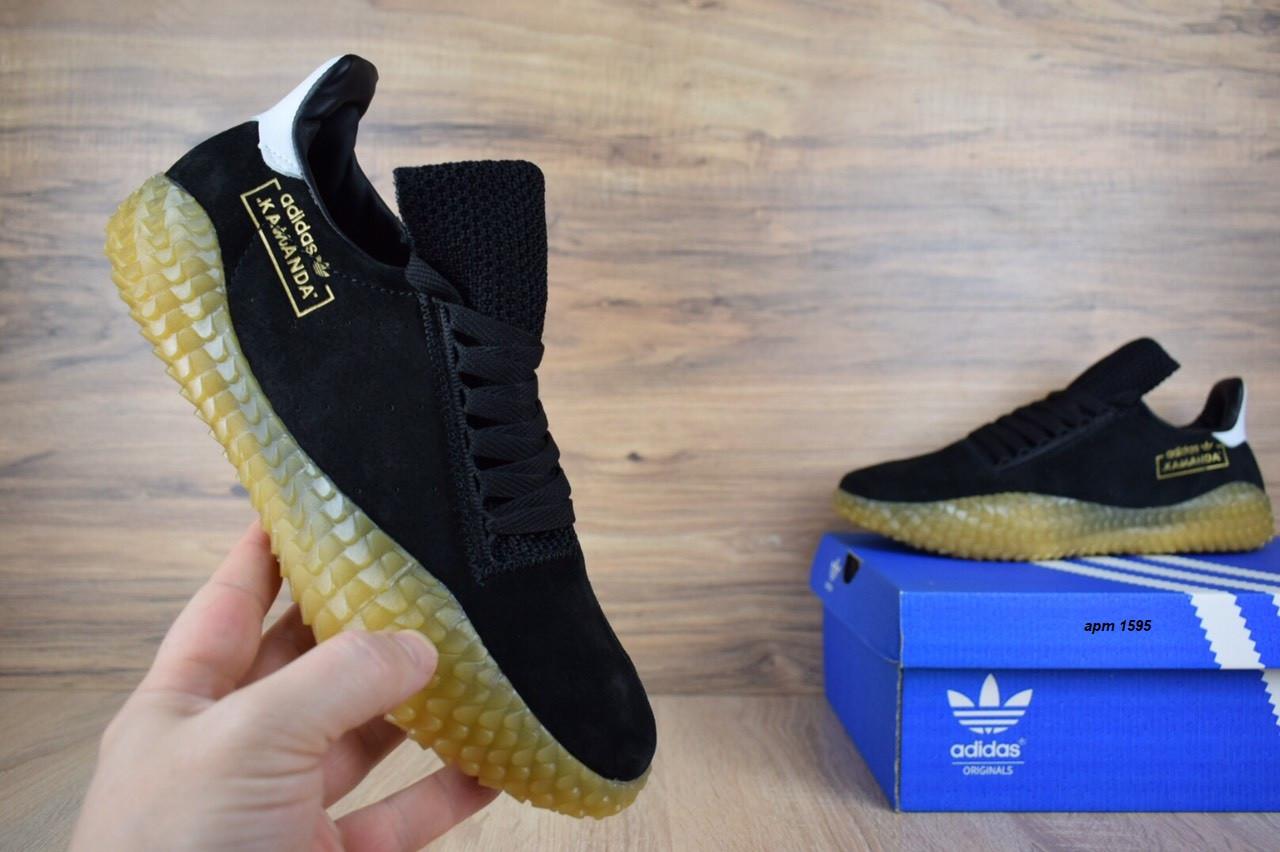 Кроссовки мужские распродажа АКЦИЯ 650 грн Adidas Kamanda черные 43й(27,5см)  последние размеры люкс копия