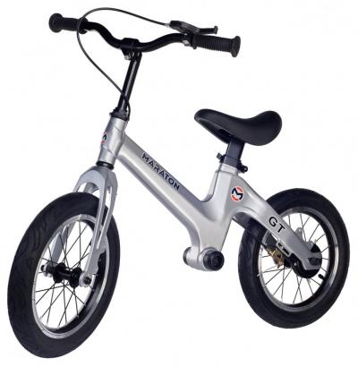 Беговел Maraton GT (Металлик, серый) Для детей с ручным тормозом