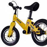 Беговел Maraton Prime (Жовтий) Для дітей з ручним гальмом, фото 2