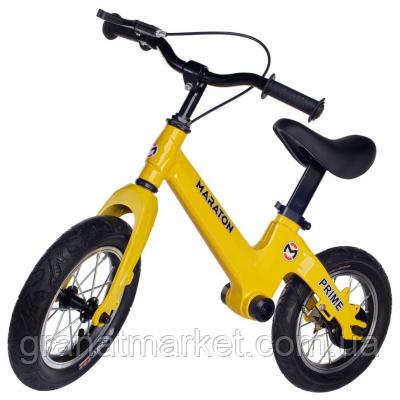 Беговел Maraton Prime (Желтый) Для детей с ручным тормозом