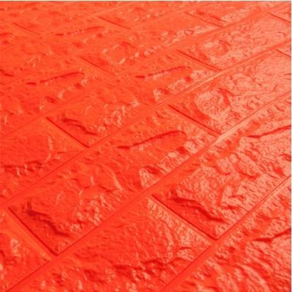 Мягкие 3D панели 700x770x7мм (самоклейка) Оранжевый Кирпич