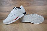 Кроссовки мужские распродажа АКЦИЯ 650 грн Reebok низкие белые 43й(27,5см) последние размеры люкс копия, фото 5