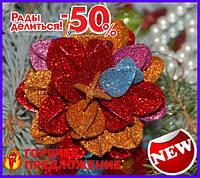 Елочная игрушка шар Цветочек 3D TOP_11-209598