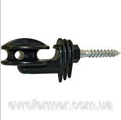 Кутовий ізолятор для дроту або шнура