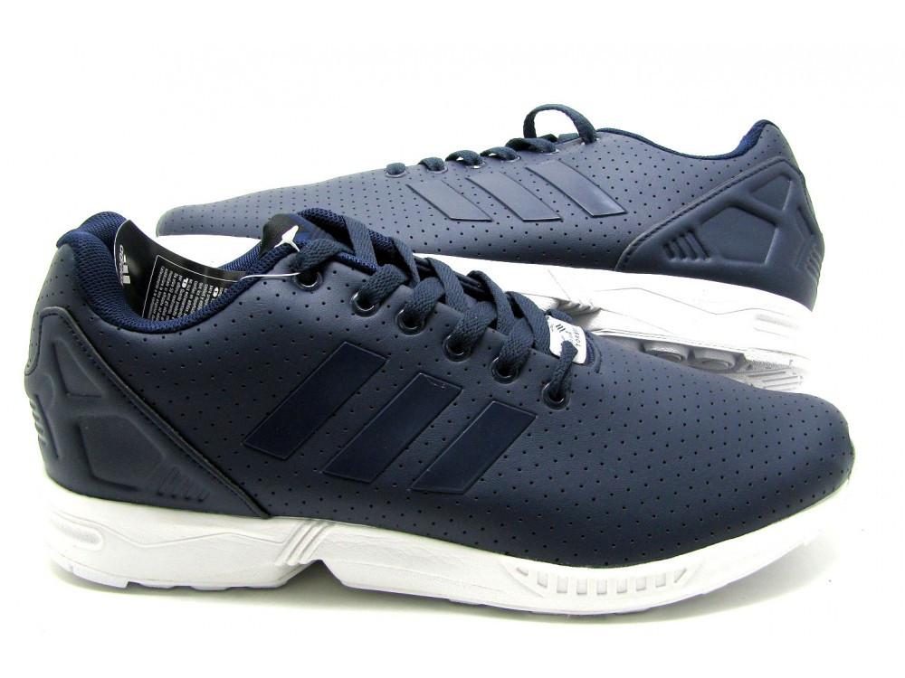 ★ Купить Кроссовки мужские Adidas ZX Flux кожаные синие кроссовки адидас ★  ... 9465055176d