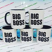 Стильная чашка для начальника, подарок шефу, BIG BOSS, цена за шт