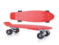 Скейт детский Doloni Toys красный, без подсветки, игрушка для детей от 3 лет. Подарок активному ребенку