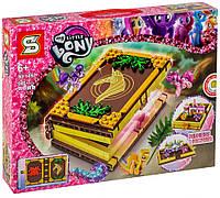 Детский конструктор книга-игровое поле Little Pony Sembo Block 546 дет., красивый подарок для девочки от 6 лет