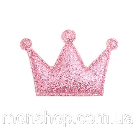 Корона в глиттере (4,8х3,1 см)