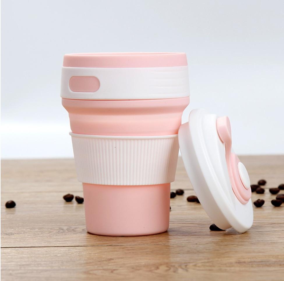 Складная силиконовая эко чашка