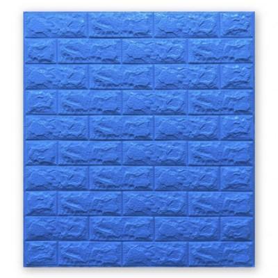 Мягкие 3D панели 700x770x7мм (самоклейка) Синий Кирпич