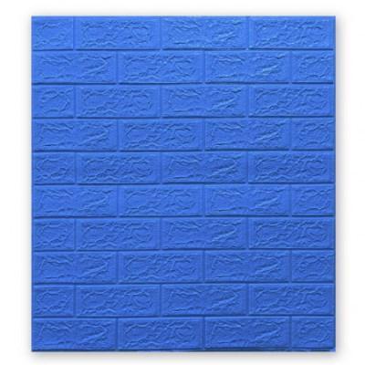 Мягкие 3D панели 700x770x5мм (самоклейка) Синий Кирпич