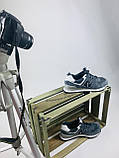 Жіночі кросівки в стилі New Balance 574 сірі з білим, фото 4
